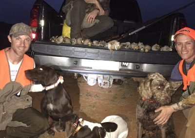 December 12th of 2015 on wild bobwhite hunt (and a cottontail) on OK public land.