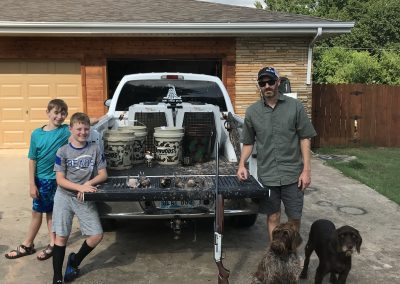 Got to have some dove, eggs and bacon after our dove opener at Kyle's house after a modest, but fun hunt. 2019