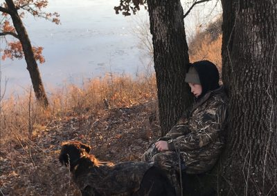 My son, a real trooper, has been eagerly getting up early for years now to go on hunting excursions with his dad. He deserved some time to sleep.